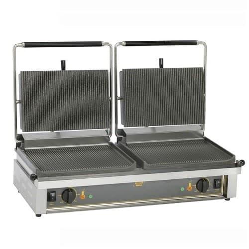 Τοστιέρα επαγγελματική διπλή PANINI άνω-κάτω ραβδωτή Roller Grill 010.0396   677d634b4ce